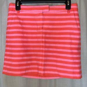 J. Crew Postcard Mini Skirt - Textured Stripe Sz 0